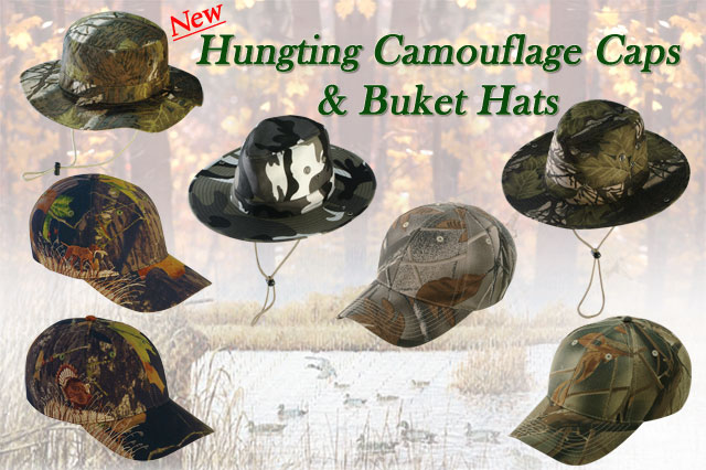 New Hunting Camouflage Caps and Bucket Hats