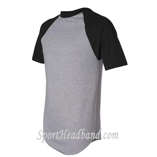Augusta Sportswear Short-Sleeve Raglan T-Shirt 423 side view